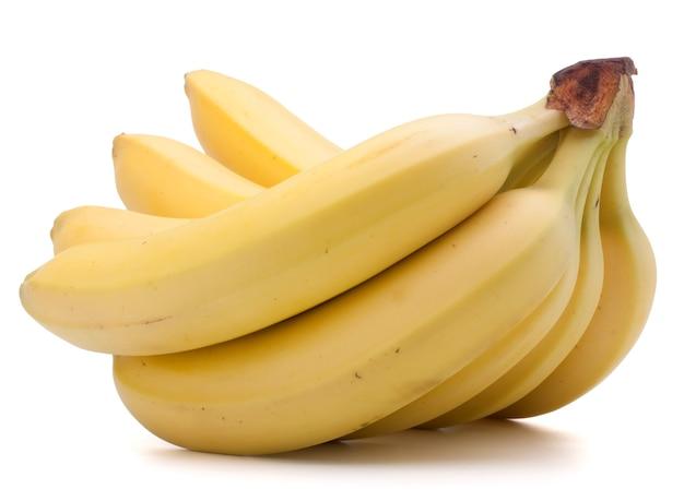 Banany na białym tle wyłącznik