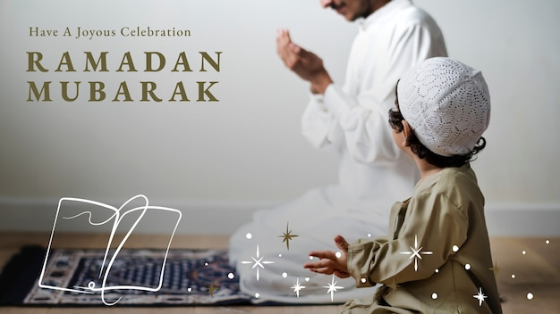 Baner bloga ramadan mubarak z powitaniem