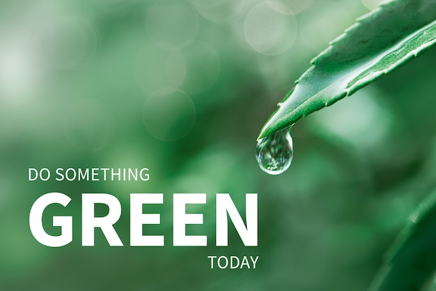 """Baner środowiskowy z cytatem """"zrób coś zielonego"""""""