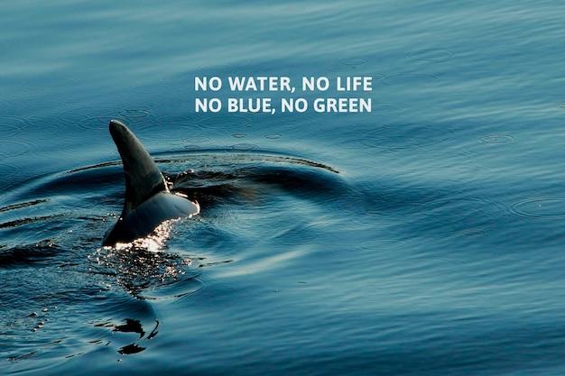 Baner świadomości zanieczyszczenia plastikiem w oceanie