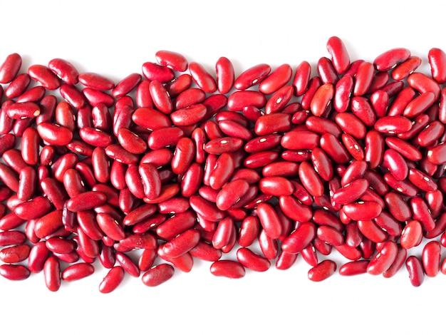 Baner tło z pełnych ziaren, czerwonej fasoli z miejsca kopiowania dla projektu