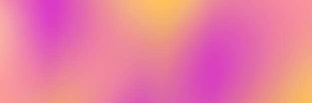 Baner z gładkim żółtym i różowym tłem gradientowym