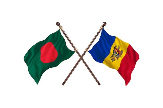 Bangladesz kontra flagi mołdawii