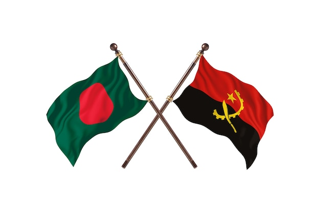 Bangladesz kontra tło flagi angoli