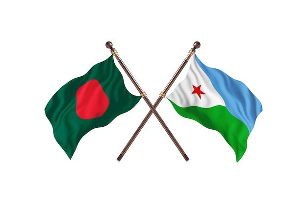 Bangladesz kontra tło flagi dominiki