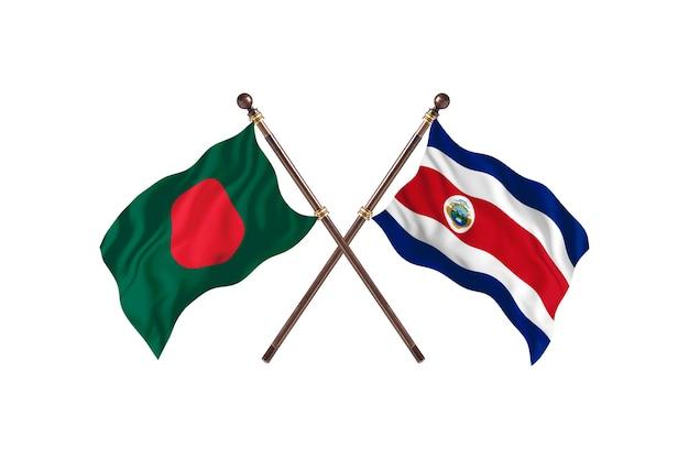 Bangladesz kontra tło flagi kostaryki