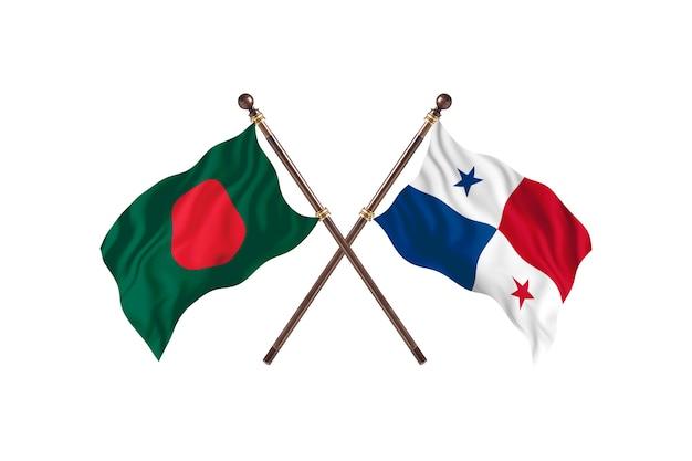 Bangladesz kontra tło flagi panamy