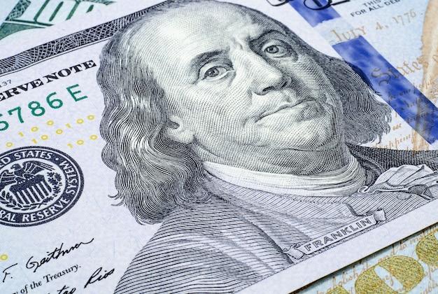 Banknot stu dolarów z bliska us