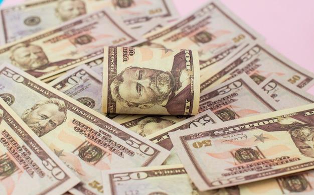 Banknoty dolarów papierowych