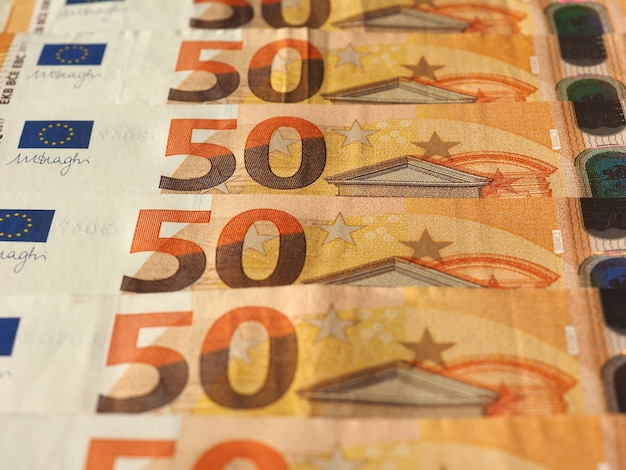 Banknoty euro, unia europejska