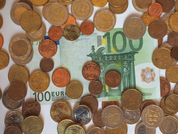 Banknoty i monety euro (eur), unia europejska (ue)