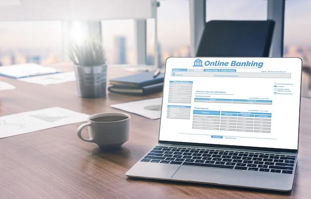 Bankowość internetowa dla koncepcji technologii pieniądza cyfrowego.