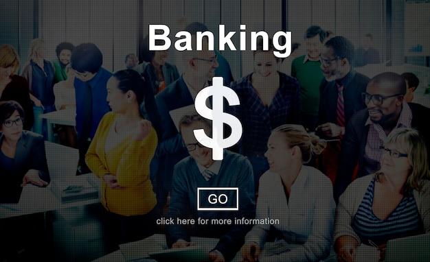 Bankowość pieniądze gotówka online strony internetowej interneta pojęcie