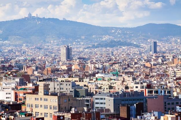 Barcelona z montjuic. katalonia