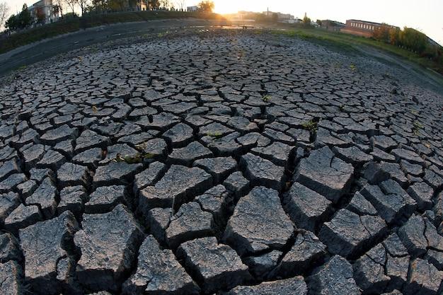 Bardzo sucha popękana ziemia