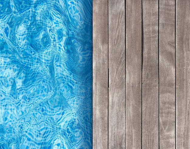 Basen i drewniany taras idealny do tła