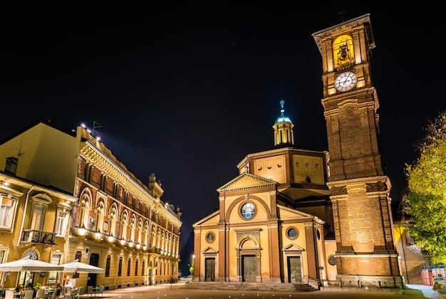 Basilica di san magno i palazzo municipale w legnano - włochy