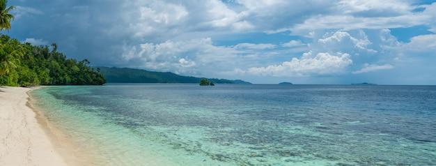 Batu lima w pobliżu biodiversity resort, gam island, west papuan, raja ampat, indonezja