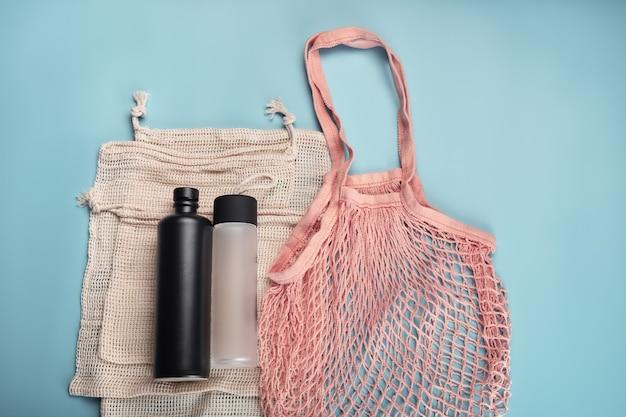 Bawełniane ekologiczne torby i butelki na wodę