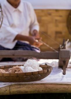 Bawełniane produkty wieśniaków w północnej tajlandii.