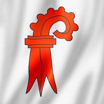 Bazylea landschaft kanton - państwo - flaga, szwajcaria macha banerem kolekcji. ilustracja 3d