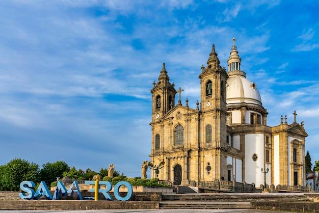 Bazylika sanktuarium sameiro w bradze w portugalii.