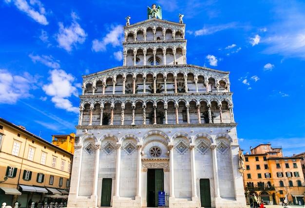 Bazylika św michele w mieście lucca w toskanii we włoszech