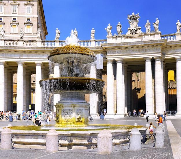 Bazylika świętego piotra, plac świętego piotra, watykan. panorama