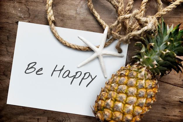 Be happy fun weekends concept