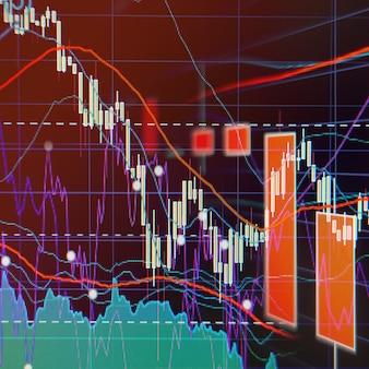 Bear market - wykresy i wykresy giełdowe - tło finansowe i biznesowe