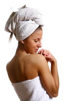 Beautyful dziewczyna z ręcznikiem