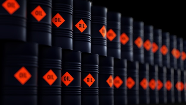 Beczki z olejem