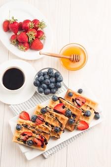 Belgijskie gofry na śniadanie