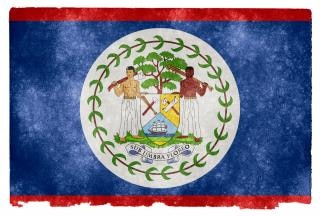 Belize grunge flag starożytny