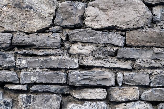 Beton o różnej szarej kamiennej powierzchni