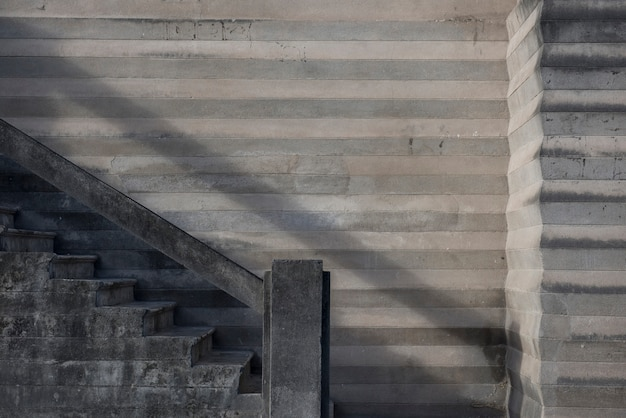 Betonowe schody na ulicach penedo, w stanie alagoas, brazylia