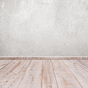 Betonowe ściany i podłoga drewniana
