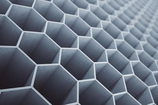 Betonowy plaster miodu, sześciokątny wzór lub tapeta.