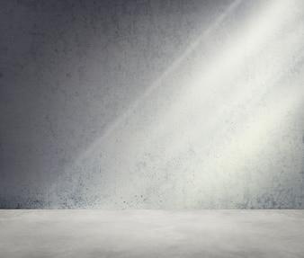 Betonowy pokój róg cienia światła słonecznego tapety pojęcie