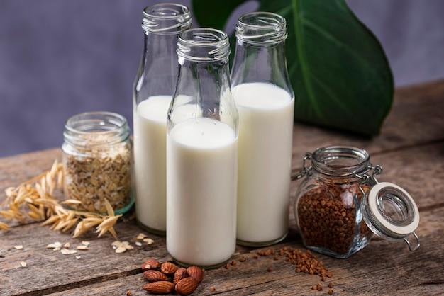 Bezlaktozowe niemleczne mleko gryczane