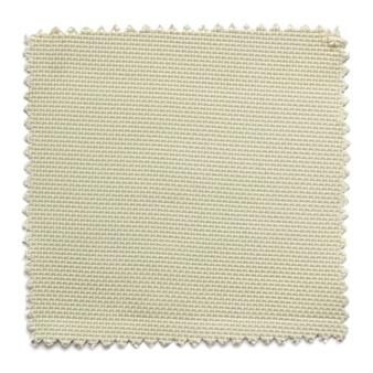 Beżowe próbki tkaniny swatch na białym tle
