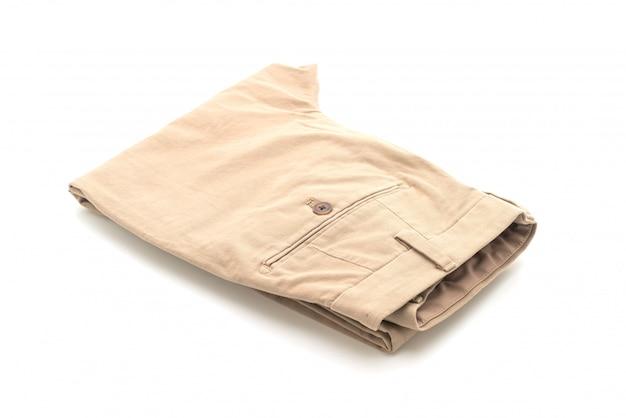 Beżowe składane spodnie