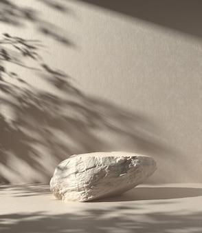 Beżowe tło rocka z cieniem