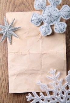 Beżowe tło z płatki śniegu