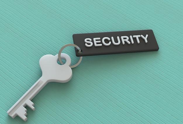 Bezpieczeństwo, wiadomość na keyholder, renderowanie 3d