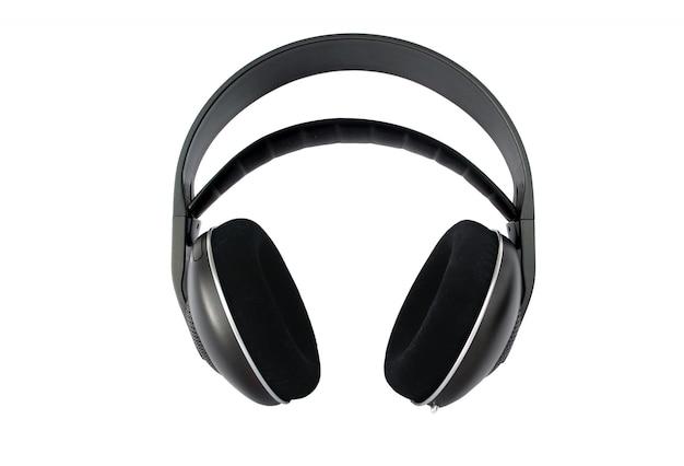 Bezprzewodowe słuchawki hi-fi na białym tle