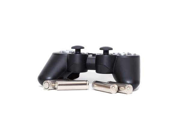Bezprzewodowy gamepad z konsoli do gier i baterie do niego