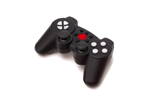 Bezprzewodowy gamepad z konsoli do gier na białym tle
