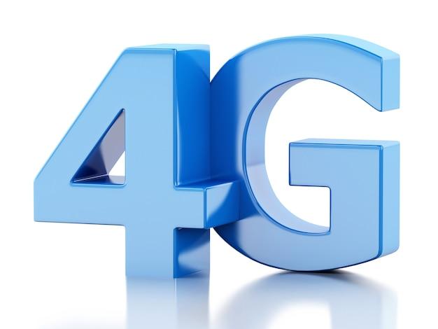 Bezprzewodowy znak 4g lte. koncepcja technologii