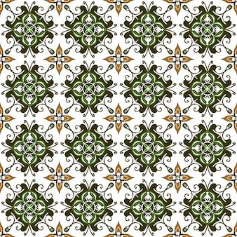 Bezszwowe abstrakcyjne tło wzór zielonej mozaiki